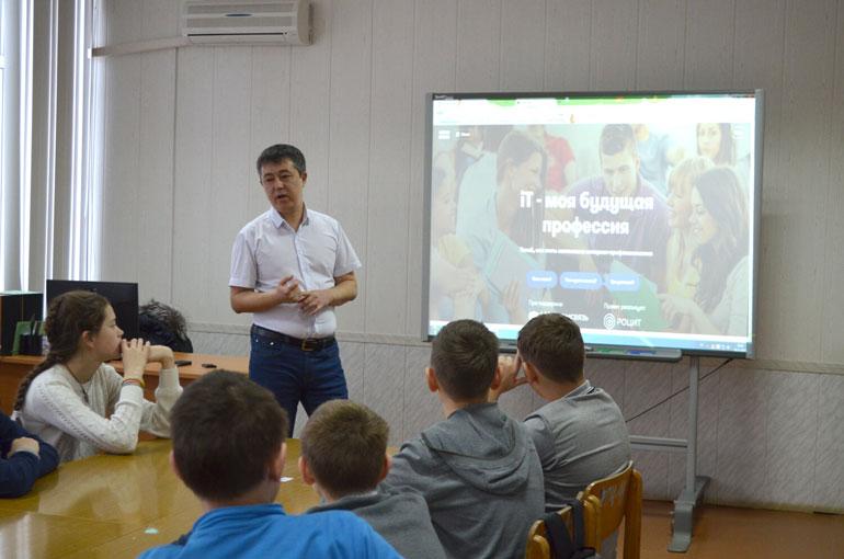 Во время урока в сельской школе