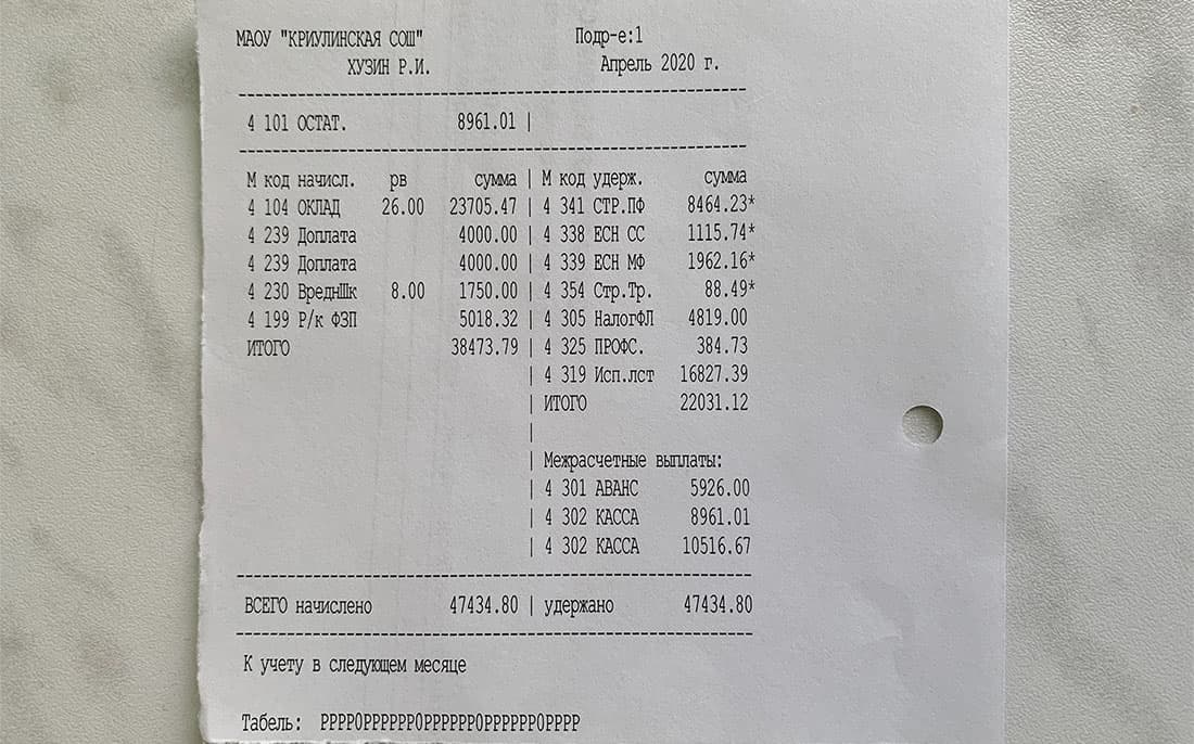 Как изменилась зарплата учителя во время дистанционки (показываю расчётный лист)